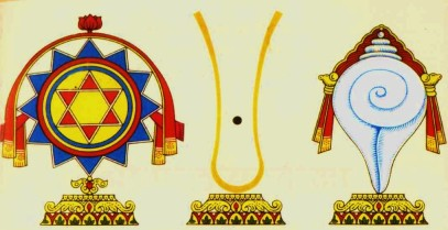 Shankha, Chakra and Tilaka of the Nimbarka Sampradaya