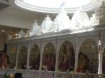 The wonderful Sinhaasan of the Lord in the Lakshmi Narayan Hindu Mandir Bradford