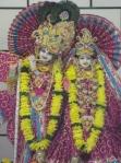 Thakur Shri Shri Radha Krishna at the Bradford Mandir on the Anniversary Day