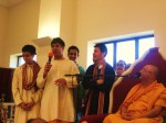 Shri Sadgurudev Ji asked all the Young Volunteers to share their experiences at the Mandir with all