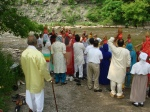 Devotees on the river bank