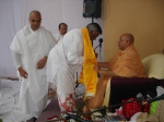 Pt. Sukul recieves blessings from Shri Sadgurudev Ji Maharaj