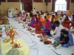 Devotees performing Puja on Day 3
