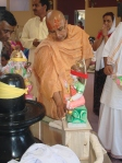 Shri Sadgurudev Ji Maharaj performing Yantra Pratishtha and Puja for the Shivaalaya