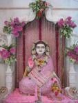 Bhagavan Shri Nimbarkacharya Ji Maharaj after being worshipped on Shri Guru Purnima