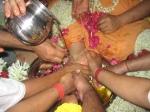 Shri Guru Puja performed by the Ashram Brahmacharis on Shri Guru Purnima