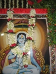 Bhagavan Shri Nimbarkacharya Ji Maharaj being readied for Raaj Bhog Darshan