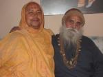 Shri Sadgurudev Ji Maharaj with Shri Yugal Sharan Ji Maharaj,at Paat Naaraayan Dham, Abu Road, Rajasthan