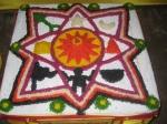 Navagraha Mandala expertly created by the Brijwasi Veda Brahmanas