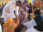 Agni Manthan - churning the fire using the Arani Mantha - fire drill, to create pure Vedic fire for Yagya
