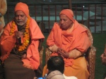 Swami Chinmayanand Ji and Swami Swaroopanand Ji giving their blessings