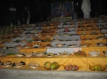 Chappan Bhog Darshan of Ganga Ji's feast of Prasadam for Shayan Bhog